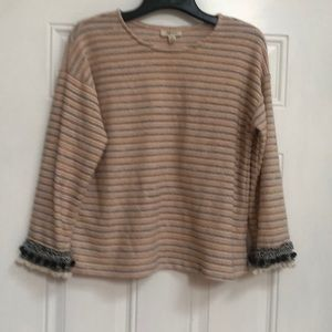 Pretty sweater with sleeve embellishments